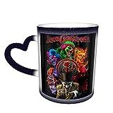 InSane CLown PoSSE Tazza che cambia colore Tazza da caffè Design Tazza sensibile al calore in ceramica Tazza che cambia colore nel cielo Regalo di compleanno