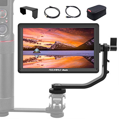 """Feelworld Master MA6P Monitor da Campo 5.5"""" Monitor Esterno Reflex Camera Field Monitor IPS 4K Full HD 1920x1080 Pixels Monitor della Fotocamera Monitor DSLR per Stabilizzatore Gimbal"""
