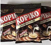 Kopiko coffeeshotカプチーノコーヒーキャンディ、150グラム(3パック)