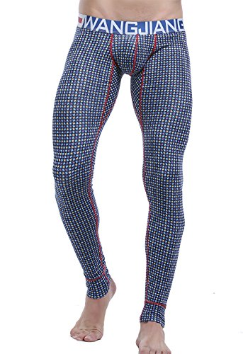 ARCITON Men's Low Rise Leggings Long Johns Thermal Pant US L/with Tag XL(Waist: 35'- 37') 5005CKUBlue Star