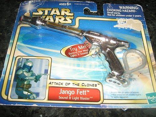 2002 Lucasfilm Hasbro Larami Limited Star Wars Attack Of The Clones Jango Fett Sound & Light Blaster 84681 84100 Asst.