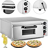 VEVOR Commercial Pizza Oven 2200W Stainless Steel Pizza Oven Countertop 110V Electric Pizza and...