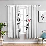SONGDAYONE - Paneles de cortina para el día de San Valentín, diseño de pájaros con flechas y pájaros, poliéster, Color 14, W84 x L84 Inch