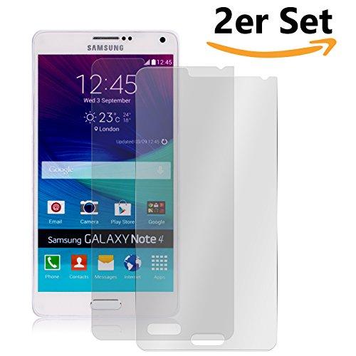 Conie SE13199 2er Set 9H Panzerfolie Kompatibel mit Samsung Galaxy Note 4, 2X Panzerglas Schutz Folie Anti-Öl, Anti-Finger Print Gorilla Glas für Galaxy Note 4 Handyfolie (2 Stück) 2X Glasfolie