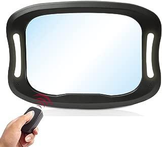 LED Car Back Seat Mirror by JOYREN - Shatterproof Rear Facing Car Seat Mirror Baby in Sight Car Mirror