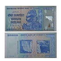 XMSM ジンバブエ$ Z100兆/ 100 Quintrillion / 5 Octillion / 100 Decillionドル金箔紙幣のレプリカ紙幣ビジネスギフト (色 : Color Silver 100 T)