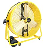 STANLEY ST-24DCT Direct Drive Cradle Drum Fan-Tiltable 24' Yellow, Black
