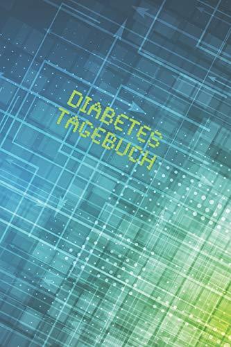 Diabetes Tagebuch: Diabetespass | Blutzucker und Insulin Tagebuch zum Ausfüllen für 2 Jahre | ca. A5 im Digital Design
