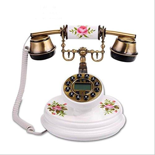 YSNUK Teléfono Retro de Madera de Estilo rústico llamador ID Moda teléfono Fijo Teléfono rotatorio (Color : B)