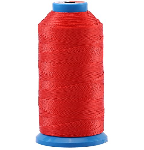 Selric [1500 Yards/Coated/No Unravel /21 Colors Available] Heavy Duty Bonded Nylon Threads #69 T70 Size 210D/3 for Upholstery, Leather, Vinyl, and Other Heavy Fabric (Red)