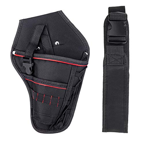 Drill Holster, Heavy-Duty Drill Holster Accessory Pockets for Power Drill, Driver, Multitool, Pneumatic, Multi-Tool