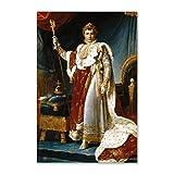 NCCDY Ölgemälde-Poster Portrait des Kaisers Napoleon I