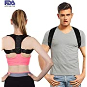 Posture Corrector for Men and Women - Upper Back Brace for Clavicle Support and Providing Pain Relief from Neck, Back & Shoulder,size: M 27''-48''