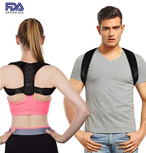 Posture Corrector for Men and Women - Upper Back Brace for Clavicle Support and Providing Pain Relief from Neck, Back & Shoulder,size: M 27