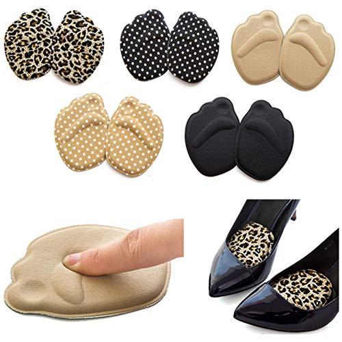 N-B Nützliche Sohle High Heel Fußpolster Vorfuß Anti-Rutsch Einlegesohle Atmungsaktive Schuhe Damen Schutz Fußpolster Weiche Einlage Fußpflege