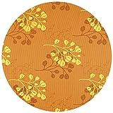 DecoHomeTextil Gartentischdecke Tischdecke Capri Miami 3D Druck mit Einfassband Softschaum Farbe & Größe wählbar Rund 160 cm Orange Gelb Outdoor Frühling Sommer