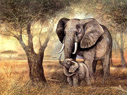 DIY 5D diamante pintura bebé elefante kits de punto de cruz taladro completo bordado diamante mosaico animales arte imagen A1 40x50cm