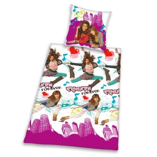 Herding 462026050412 - Juego de Funda nórdica y Funda de Almohada de Franela con diseño de Shake it up, 135 x 200 y 80 x 80 cm