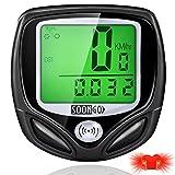 SOONGO Bike Speedometer, Bicycle Speedometer Wireless Bike Computer Waterproof Bike Odometer Speedometer Accurate Speed Tracking & Multi-Function