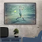 UIOLK Impresiones en Lienzo Superestrella Deportiva Roger Federer (Roger Federer) tenista pósters e Impresiones Arte de la Pared decoración de la Pared habitación Regalo del día de San Valentín