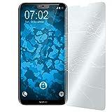PhoneNatic 2 x Glas-Folie klar kompatibel mit Nokia 6.1 Plus (X6) - Panzerglas für Nokia 6.1 Plus (X6)