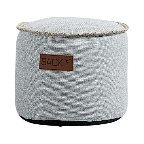 SACKit – RETROit Cobana Junior Drum Sand Melange – Runder Outdoor/Indoor Hocker – Perfekt für das Kinderzimmer oder draußen im Garten – Kombinieren Sie den Sitzhocker mit einem Sitzsack - Für Kinder