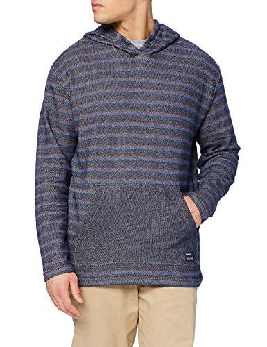 Hurley Mens M Modern Surf Poncho Stripe T-Shirt, Obsidian, XL