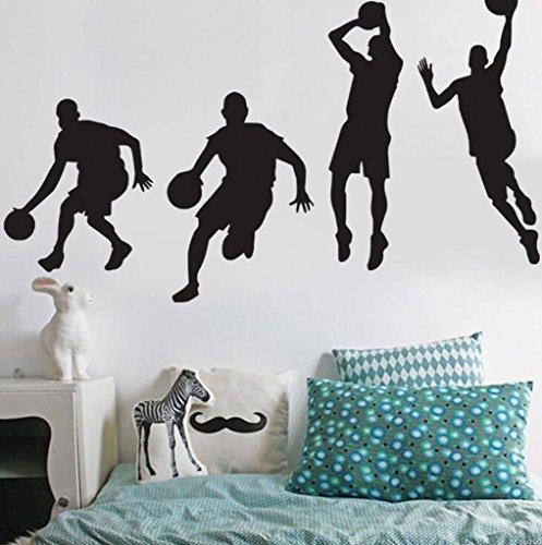 Lozse Basketball Athlet Wandsticker junge Schlafzimmer Deko Poster
