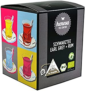 Bio Schwarztee Earl Grey mit Rum Box - 15 Tee-Pyramiden