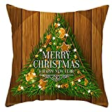 Beydodo Cojines Fundas Navideñas,Funda de Cojin 1 Pieza Funda para Cojines 50X50,Merry Christmas Árbol de Navidad Verde...
