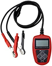 メルテック バッテリー診断機 (二輪用・LEDデジタル表示) DC12V 診断内容:CCA値・CA値・mΩ バッテリー状態&充電容量表示/日本語表記 Meltec ML-101