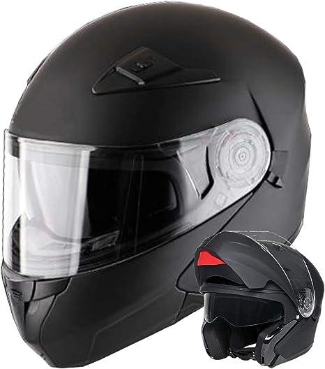 Klapphelm Integralhelm Helm Motorradhelm Rallox 910 Schwarz Matt Mit Sonnenblende Xs S M L Xl Größe S Auto