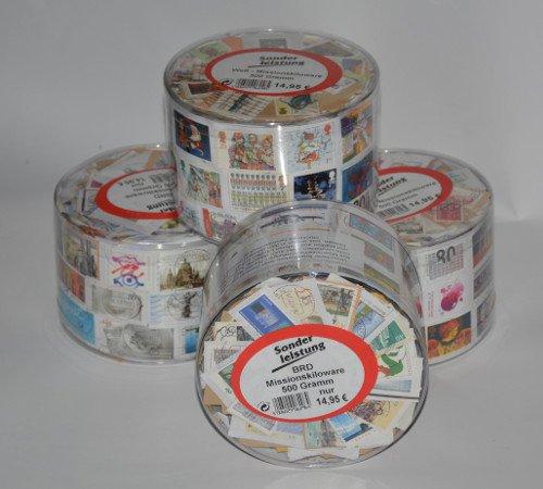 Goldhahn 500 Gramm BRD Kiloware in Runddose Briefmarken für Sammler