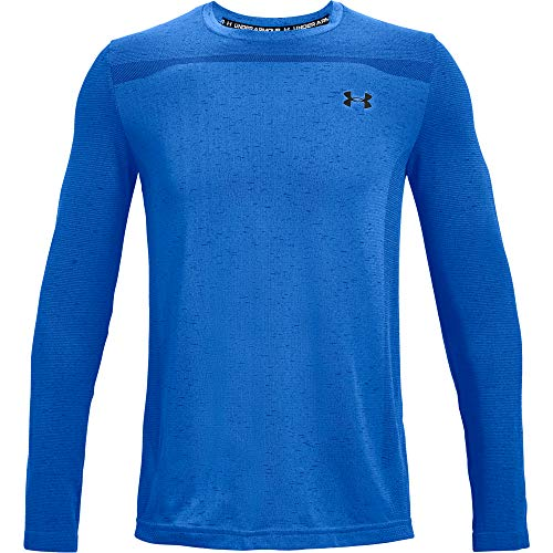 Under Armour Camiseta sin Costuras para Hombre, Hombre, Camiseta, 1361136-436, Blue Circuit/Black (436), Large