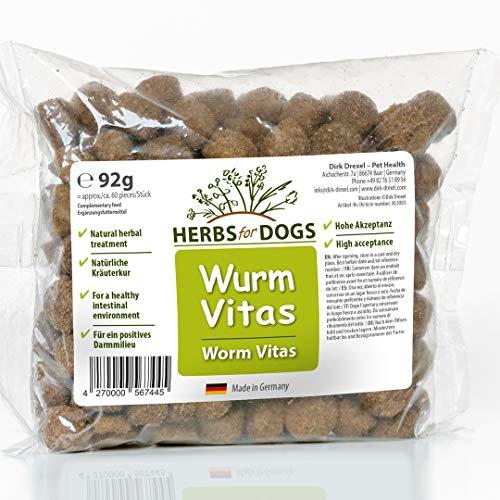 Dirk Drexel Worm Vitas Dogs 1 x 92g | Prima Durante e Dopo un'infestazione da Verme trattata/vermifugo | Treats - Nessuno: Anti Worm | nutrizione Naturale in Caso di infestazione da Vermi