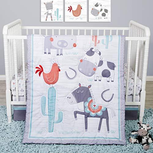 Sammy & Lou Sammy & Lou Farmstead Friends 4Piece Crib Bedding Set