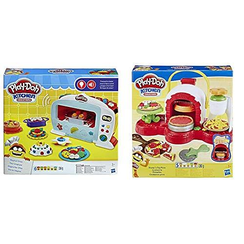 Hasbro Play-Doh Il Magico Forno, B9740Eu4 & Play-Doh Play-Doh-La Pizzeria (Playset con 5 Vasetti di Pasta da Modellare), Multicolore, E4576Eu4