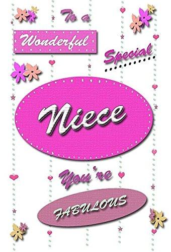 Prachtig speciaal nichtje - Gelukkige Verjaardagskaart