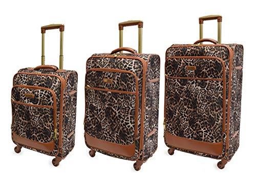 Adrienne Vittadini Carry-On, Expandable Suitcase Luggage Lightweight Spinner Luggage Set -3 pc Luggage Set- 32', 29' 21'- 8 spinner wheels