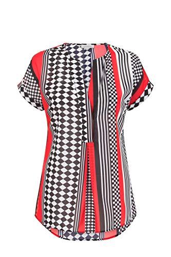 Promiss Tessalika - Camiseta de Gasa para Mujer, Cuello en V y Mangas largas con puños