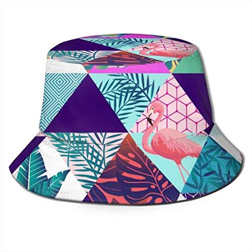 Atmungsaktive Eimerhüte mit flachem Oberteil Unisex Hawaii Art Bucket Hat Sommerfischerhut-Hawaii Art-One Size