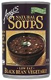 Amys Kitchen Soup Black Bean Vegetal 411 g (Paquete de 6)