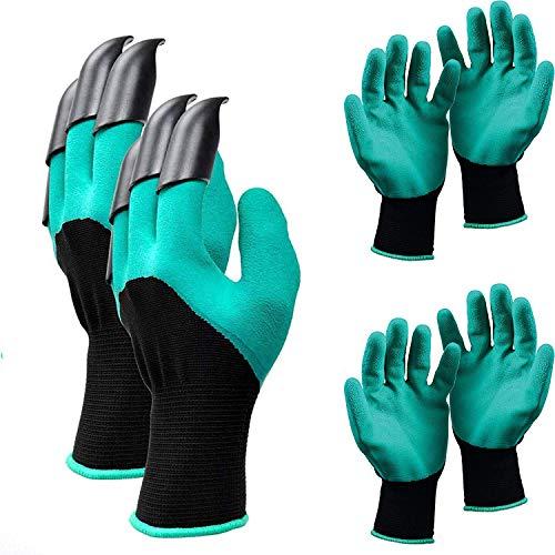 Gardening Gloves for Men And Women 3 Pairs Waterproof Work Gloves Ladies Gardening Safety Work...