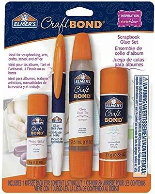 Elmer's CraftBond Scrapbook Glue, 4 Piece Set, Natural
