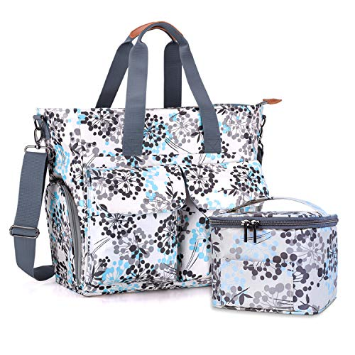 Teamoy Breast Pump Bag with Cooler Bag, Breast Pump Storage Tote with Laptop Sleeve (Up to 14