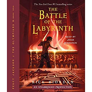 The Battle of the Labyrinth: Percy Jackson, Book 4                   Written by:                                                                                                                                 Rick Riordan                               Narrated by:                                                                                                                                 Jesse Bernstein                      Length: 10 hrs and 32 mins     66 ratings     Overall 4.8