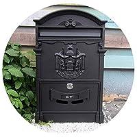 ポストボックス提案ボックスクリエイティブレトロメールボックスヨーロピアンヴィラ屋外防水レターボックスロック付き