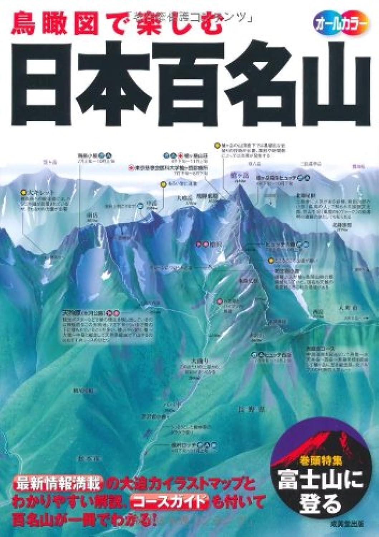 理想的憂鬱な色合い鳥瞰図で楽しむ 日本百名山