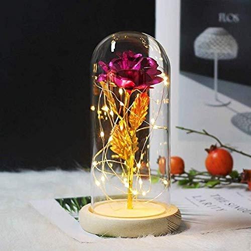 LLDKA Art Rose romantisch LED geschenk voor eeuwige party Valentijnsdag exclusieve verjaardagscadeau glas roze