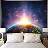 Tapiz de luna colgante de pared universo astronauta ventilador de estrella tapiz fantasma que cubre la pared manta tela de fondo A15 150x200cm